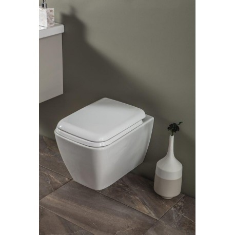 OLSEN SPA závesné RIMLESS WC 34,5x40x51 cm so sedadlom Soft-close